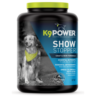 K9 Power Show Stopper 8lb (3629g) Coat & Skin Formula Dog Supplement