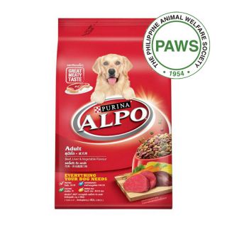 DONATE TO MARAWI DOGS - 25 MEALS OF PURINA ALPO BEEF LIVER & VEGETABLE DOG DRY FOOD