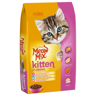 Meow Mix Kitten Li'l Nibbles 1.43kg Cat Dry Food