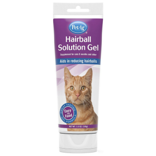 PetAg Hairball Solution with Vitamins, Minerals & Taurine Chicken Flavored 100g Cat Supplement