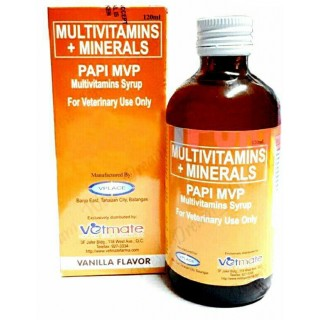 Papi MVP Multivitamins Syrup Vanilla Flavor for Pets 120ml