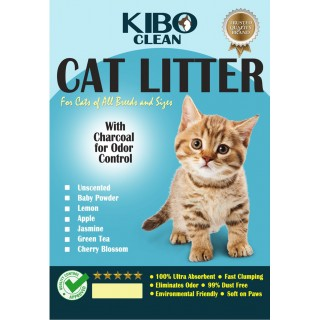 Kibo Clean Clumping Charcoal JASMINE 10L Cat Litter