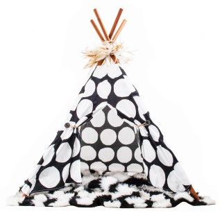 FurFect Connection POLKA DOT Pet Teepee
