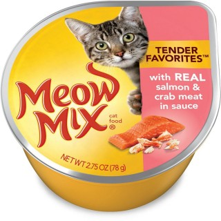 Meow Mix Market Select Real Salmon & Crab Meat 78g Wet Cat Food