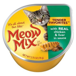 Meow Mix Market Select Real Chicken & Liver 78g Wet Cat Food