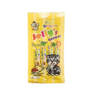 Petto Tomodachi Jelly Queese CHICKEN & LIVER 15g x 4 Cat Food Toppers/Treats