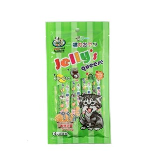 Petto Tomodachi Jelly Queese SCALLOP 15g x 4 Cat Food Toppers/Treats