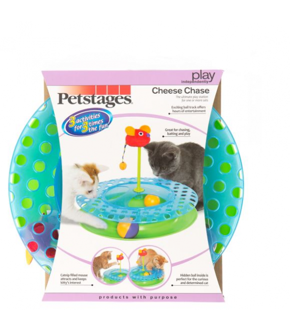 Petstages Cheese Chase II Cat Toy