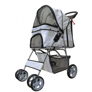 Furmom's Fab Grey Pet Stroller w/ Anti-Stain Oxford Fabric