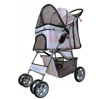 Furmom's Fab Pink Pet Stroller w/ Anti-Stain Oxford Fabric