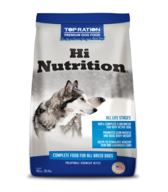 Top Ration Hi Nutrition 18 14kg Dog Dry Food Pet Warehouse