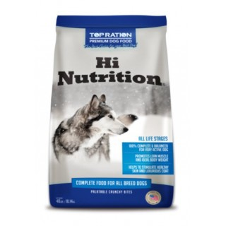 Top Ration Hi Nutrition for All Life Stages 40lbs Premium Dry Dog Food