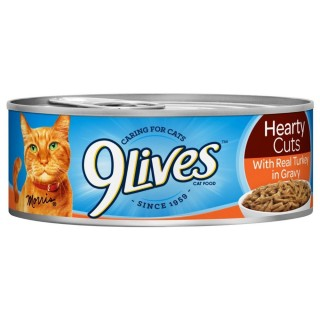 9 Lives Hearty Cuts with Real Turkey in Gravy 156g Cat Wet Food