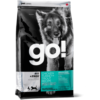 Go! Fit + Free Chicken, Turkey and Trout Dog Dry Food