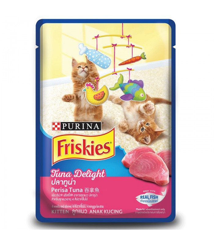 Purina Friskies Kitten Tuna Delight 80g Kitten Wet Food Pet