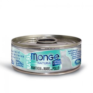 Monge Natural Seafood Mixed with Chicken 80g Cat Wet Food