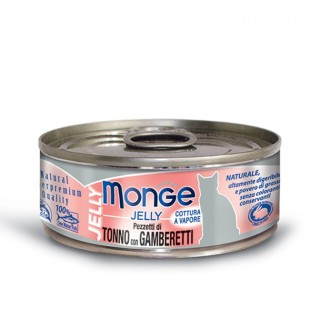 Monge Jelly Yellowfin Tuna with Shrimps 80g Cat Wet Food