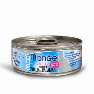 Monge Delicate Chicken with Calamari 80g Cat Wet Food