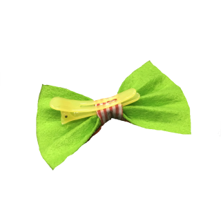 Babymoon Bow Clip Green with Stripes Pet Accessory