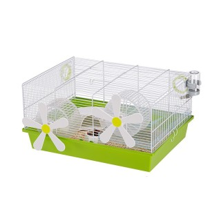 Ferplast Milos Flowers Cage for Small Pets - White & Green