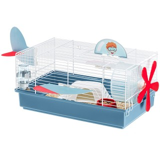 Ferplast Criceti 9 Plane Habitat Cage for Small Pets - White & Blue