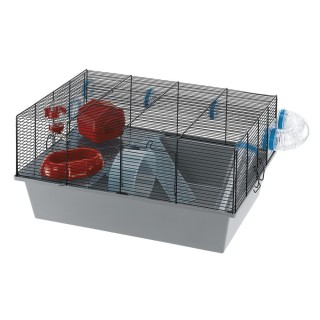 Ferplast Milos Habitat Cage for Small Pets (Large/Black)