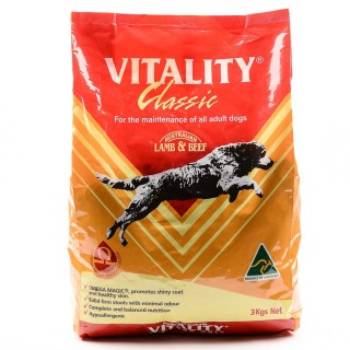 Vitality Classic Lamb & Beef Dog Dry Food