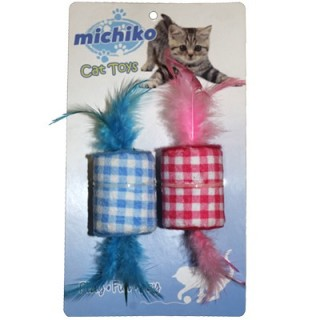 Michiko Rattle & Roll Feather (2-pack) Cat Toy