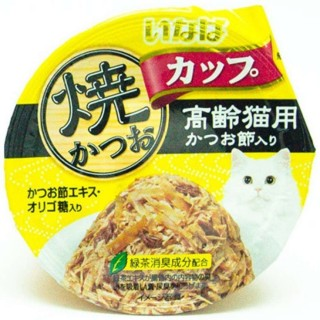 Inaba Yaki Katsuo Cup Tuna in Gravy Topping Sliced Bonito 80g Cat Wet Food (IMC-104)