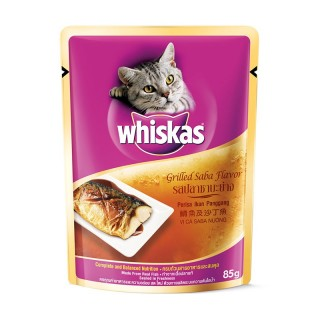 Whiskas Grilled Saba Pouch 85g Cat Wet Food
