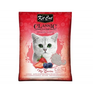 Kit Cat Classic Clump Mix Berries 7kg Premium Cat Litter
