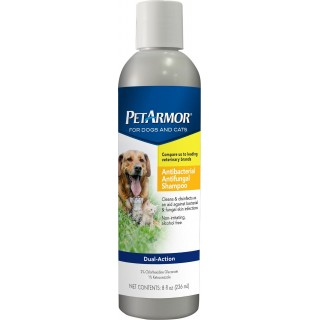 PetArmor Dual-Action Antibacterial Antifungal 236ml Dog & Cat Shampoo