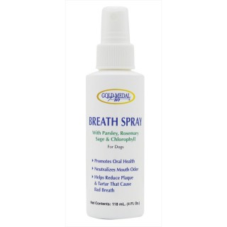 Gold Medal Pets 118ml Breath Spray for Dogs
