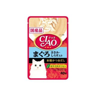 Ciao Pouch Tuna & Chicken Fillet Whitebait 40g Cat Wet Food (IC-202)