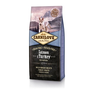Carnilove Into The Wild Grain-Free, Potato-Free Salmon & Turkey for Puppies Dog Dry Food