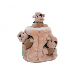 Plush Puppies Hide-A-Squirrel Squeaking Dog Toys, Brown