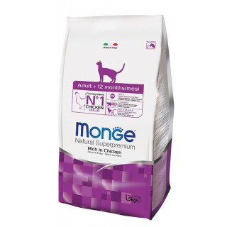 Monge Natural Superpremium Adult Rich in Chicken Cat Dry Food