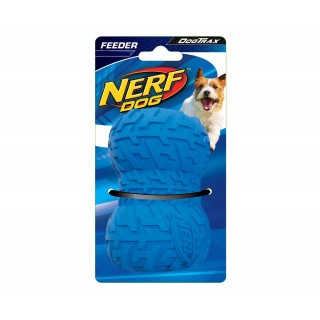 Nerf Dog Tire Feeder BLUE SMALL 2.7 inches Dog Toy