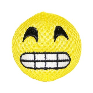 Michiko Emoji Dog Toy (squeaky) - HAPPY