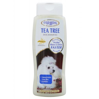 Gold Medal Tea Tree Dog Shampoo with Cardoplex (17 oz) Dog and Cat Shampoo