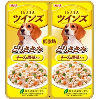 Inaba DOG Twin Pouch Jelly Chicken with Cheese & Veggies 80g Dog Treats TW08