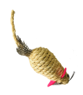 Hagen Sisal LARGE Mouse with Feather Cat Toy CT-05