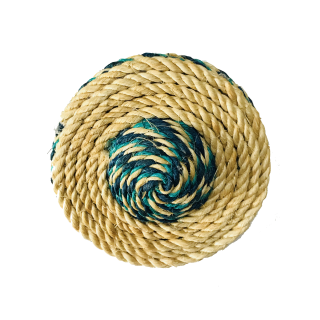 Hagen Crazy Claws Sisal Rope ROUND with Feather Cat Toy CT-08
