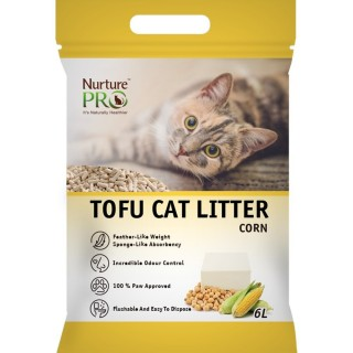 Nurture Pro CORN 6L Tofu Flushable Clumping Cat Litter
