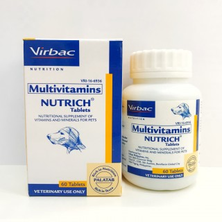 Virbac Nutrich Tablets 60 Tablets Dog Supplement