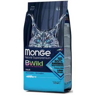 Monge Natural Superpremium BWild Anchovies Adult Cat Dry Food