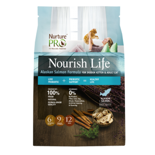 Nourish Life Alaskan Salmon Formula Indoor 1.82kg Cat Dry Food