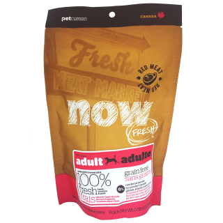 SAMPLE PACK - Now Fresh Grain Free RED MEAT 230g (0.5lb/0,23kg) Dog Dry Food