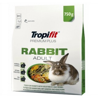 Tropifit Premium Plus ADULT RABBIT Food 750g