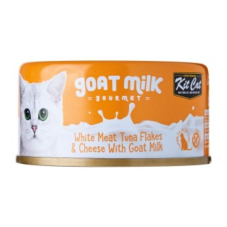 Kit Cat Goat Milk Gourmet WHITE MEAT TUNA FLAKES & CHEESE with Goat Milk 70g Grain Free Cat Wet Food